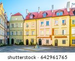 view of colorful houses of the... | Shutterstock . vector #642961765
