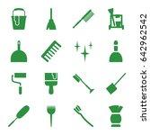 brush icons set. set of 16... | Shutterstock .eps vector #642962542