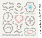 set of hand drawn vector... | Shutterstock .eps vector #642971332