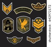 set of military and army grade... | Shutterstock .eps vector #642972172