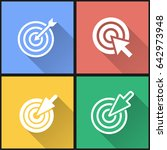 target vector icons set.... | Shutterstock .eps vector #642973948