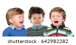 children crying isolated on a... | Shutterstock . vector #642982282