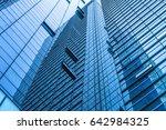 closeup of glass wall of modern ... | Shutterstock . vector #642984325