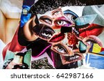 paper craft. abstract collage... | Shutterstock . vector #642987166