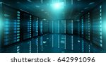 dark server room data center... | Shutterstock . vector #642991096
