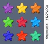 cartoon color glossy stars ...