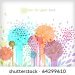 eps10 colored field of  bright... | Shutterstock .eps vector #64299610