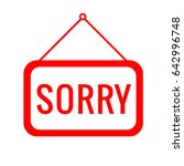 sorry icon vector eps 10... | Shutterstock .eps vector #642996748