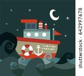 boat background | Shutterstock .eps vector #642997678