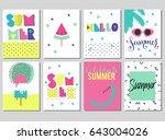 abstract trendy vector... | Shutterstock .eps vector #643004026