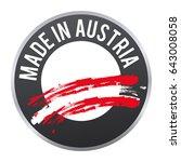 made in austria label badge... | Shutterstock .eps vector #643008058
