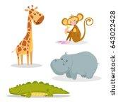 cartoon trendy style african... | Shutterstock .eps vector #643022428