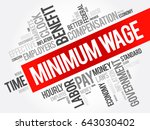 minimum wage word cloud collage ... | Shutterstock .eps vector #643030402
