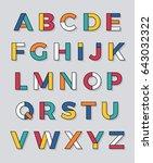modern geometric uppercase... | Shutterstock .eps vector #643032322
