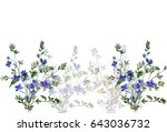blue small spring flowers image ... | Shutterstock . vector #643036732