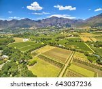 franschoek winelands and... | Shutterstock . vector #643037236