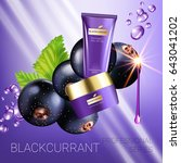 black currant skin care series...   Shutterstock .eps vector #643041202