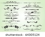 set of design elements in... | Shutterstock .eps vector #64305124