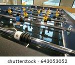 mini soccer game in work room. | Shutterstock . vector #643053052