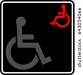 access icon  disabled handicap... | Shutterstock .eps vector #643054066