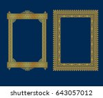 set of luxury decorative... | Shutterstock .eps vector #643057012