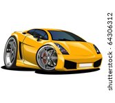 vector modern cartoon car. see... | Shutterstock .eps vector #64306312