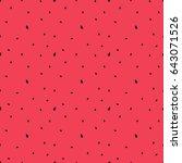 watermelon vector seamless... | Shutterstock .eps vector #643071526
