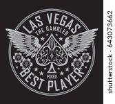las vegas player poker... | Shutterstock .eps vector #643073662