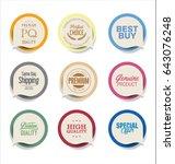 modern bubble speech sticker... | Shutterstock .eps vector #643076248
