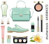vector fashion accessories set 5 | Shutterstock .eps vector #643084372