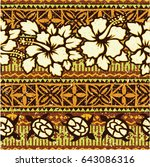 hawaiian style background with... | Shutterstock .eps vector #643086316