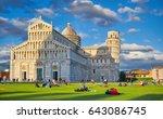 italy  pisa  piazza dei... | Shutterstock . vector #643086745