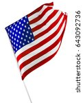 american flag isolated on white | Shutterstock . vector #643092736