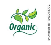 vector logo organic | Shutterstock .eps vector #643095772