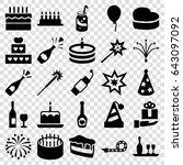 celebrate icons set. set of 25... | Shutterstock .eps vector #643097092