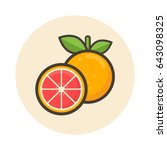 cartoon grapefruit icon | Shutterstock .eps vector #643098325