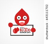 world blood donor day poster... | Shutterstock .eps vector #643111702