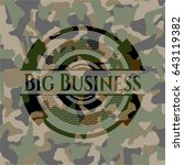 big business camouflage emblem | Shutterstock .eps vector #643119382