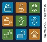 keyhole icons set. set of 9...   Shutterstock .eps vector #643129555
