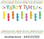 party time birthday squiggle... | Shutterstock .eps vector #643131502