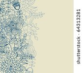 light floral background   Shutterstock .eps vector #64313281