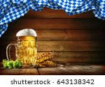 oktoberfest beer with wheat ... | Shutterstock . vector #643138342