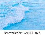 blue wave on a beach | Shutterstock . vector #643141876