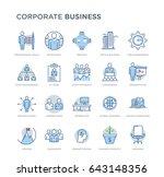 set of corporate business... | Shutterstock .eps vector #643148356