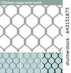 chicken wire  new. three... | Shutterstock .eps vector #643151875