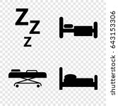 bed icons set. set of 4 bed...   Shutterstock .eps vector #643153306