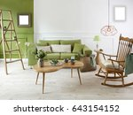 new natural wood furniture... | Shutterstock . vector #643154152