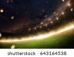 stadium in fire  smoke and... | Shutterstock . vector #643164538