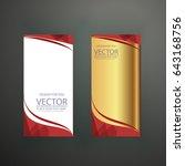 banner  polygonal geometric...   Shutterstock .eps vector #643168756