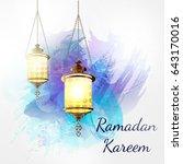 ramadan kareem lantern on a...   Shutterstock .eps vector #643170016